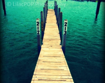 Dock in Elk Rapids Michigan Fine Art Photograph on Metallic Paper