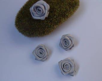 grey rose satin - 2.50 cm in diameter