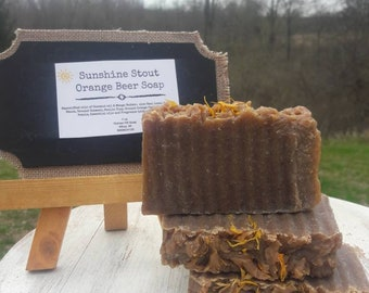 Sunshine Stout Orange Beer Soap
