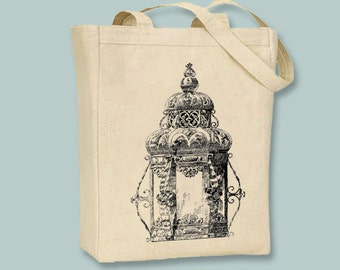Beautiful Vintage Gothic Lantern Canvas Tote - Selection of  sizes available
