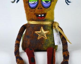 handmade, sleepy monster, Doll, plushie, stuffed animal, cute creature