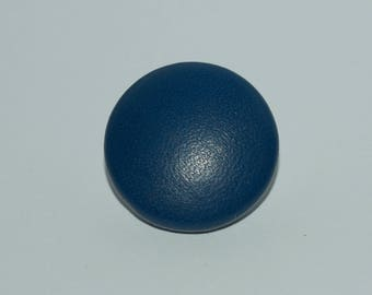 Navy Blue Leather Button. Navy Blue Leather Covered Button