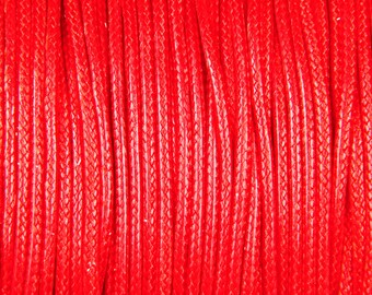 1 Korean waxed polyester cord 10 mm Red