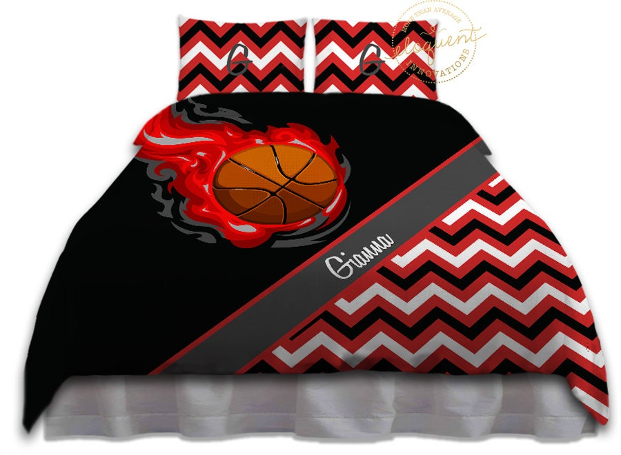 Basketball Comforter Sets For Teenage Girls Queen King Red