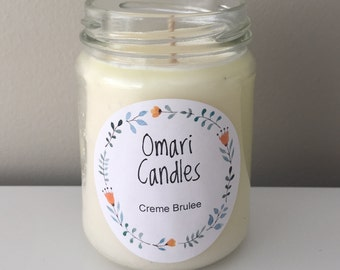 Creme Brulee - Hand Poured Soy Candle (150ml Glass Jar)