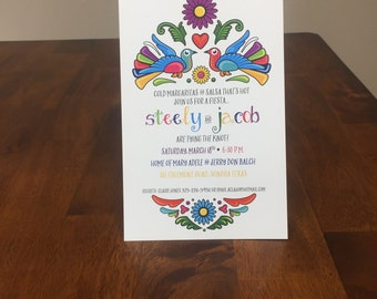 Qty. 25 Mexican Fiesta Invitation Couples Shower Mexican Party Invitation Wedding Fiesta Invitation Rehearsal Dinner Invitation w/envelopes