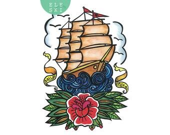 Sail Free - A3 print