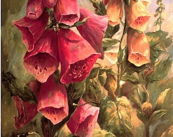 Super Giclée's of  Big flower paintings Foxgloves