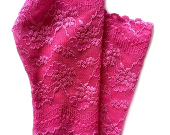Bridal Gloves, Lace Gloves in Pink. Stretch Lace, Fingerless Lace Gloves.