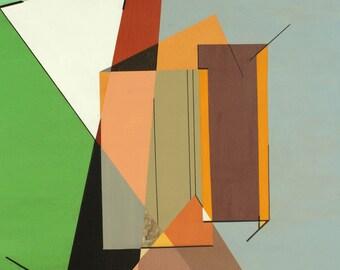 Synthetic cubist study of Towan Roath Engine house, Chapel Porth