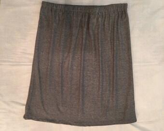 Women's Skirt, Grey Skirt, Grey Cotton Jersey Knit Skirt