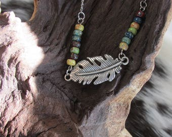 Spread Your Wings Feather Necklace