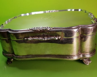 Jewellery box in silver and gold 24kt years 50