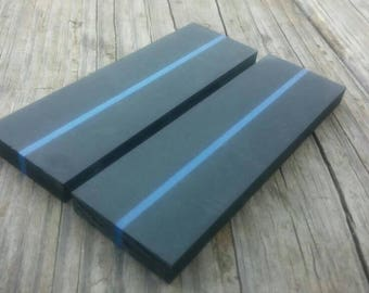 Thin Blue Line / Police / Police Officer / Law Enforcement / LEO / Sheriff / Deputy / Knife Making / State Trooper / Knife Scales