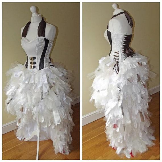 Steampunk Wedding Gowns: Steampunk Punk Alternative Wedding Dress/ Prom Sexy Corset
