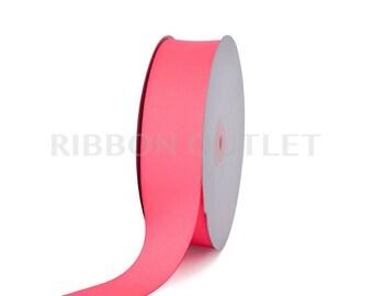 "1 1/2"" Bright Neon Pink Grosgrain Ribbon 50 Yards Per Roll"
