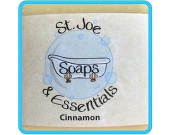 Cinnamon Soap, Handmade Soap, All Natural Soap, Organic Saponified Olive Oil, Coconut Oil, Shea Butter, Fragrance Oil