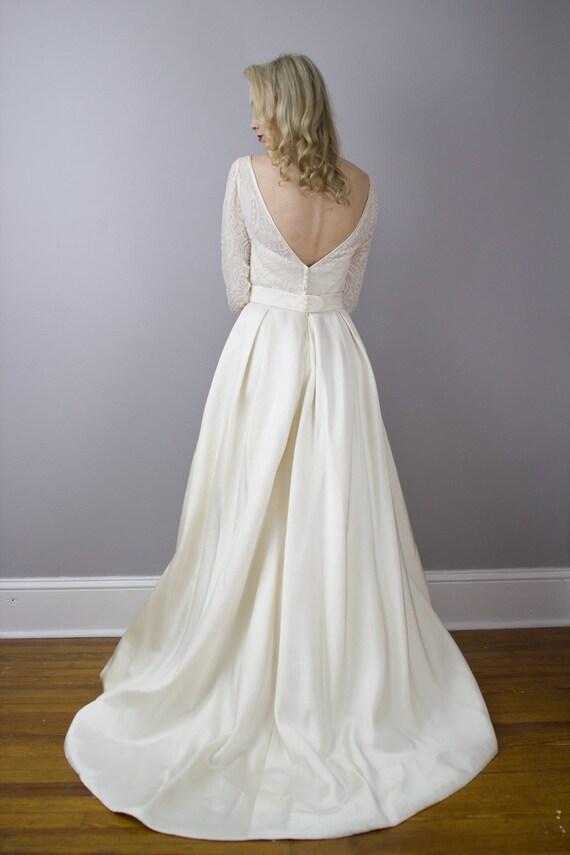 House of Bianchi designer vintage wedding gown / Devoré /