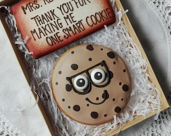 Thank you for making me a smart cookie -  can be personalised - teachers gift - teachers appreciation gift - cookie gift box
