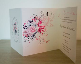 Bat Mitzvah /  Hebrew Wedding Invitation Card