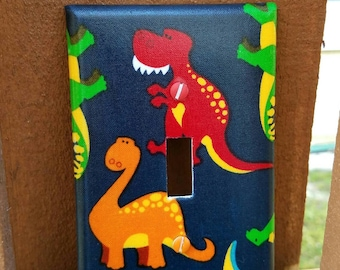 Dinosaur Light Switch - Outlet Cover- Switch Plate Cover-Nursery Decor- Light switch cover- boy room decor-
