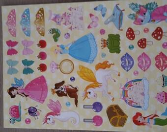 Princess theme stickers