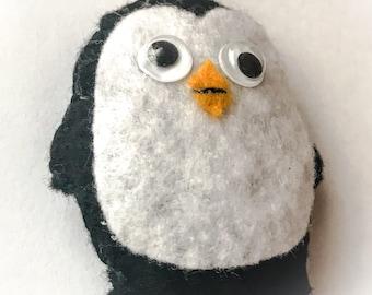 Handmade Penguin Keyring Felt Gift