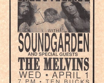 Nirvana With Soundgarden Paramount Theatre > Kurt Cobain > Print/Replica > Dave Grohl > Krist NovoSelic > Smells Like Teen Spirit > In Bloom