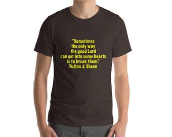 Fulton Sheen  Short-Sleeve T-Shirt Yellow Lettering