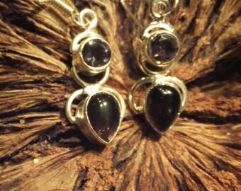 Purple Amethyst and Sterling Silver Earrings