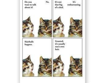 Embarrassing Cat Problem - Blank Card