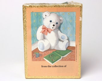 Vintage Antioch Teddy Bear Book Plates Set of 30 Self-Stick Bookplate Labels