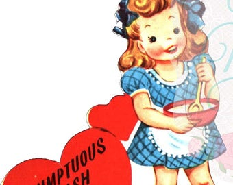 Digital Download ~ Vintage Valentine Cute Cook