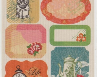 Masking Tape Stickers - Floral Stickers - Labels - Reference A4354