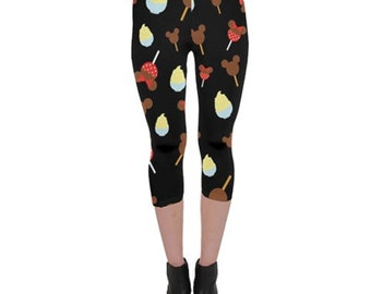 Disney Snacks Capri Leggings // Disney Leggings // Dole whip // Run Disney // Mickey ice cream bar // walt disney world