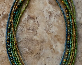 Picasso Seed Bead Necklace