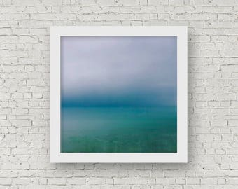 Ocean print, blue sea print , ocean wall art, fine art print, minimal abstract print, ocean photography