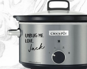 Unplug Me Love Jack, Jack Pearson, This Is Us, Slow Cooker Decal, Laptop Stickers, Laptop Decal, Macbook Decal, Car Decal, Vinyl Decal