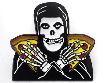 The Misfits Lapel Enamel Pin Crimson Ghost Pizza Punk Rock Band Soft Horror Skull