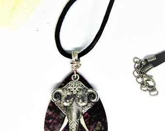 Elephant Pendant-animal lover gift- Jewelry-Elephant Necklace, Elephant Jewelry-SJO Handcrafted