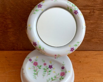 1950's Sweet Jewelry Ring Vanity Mirror Catchall/Made in Japan