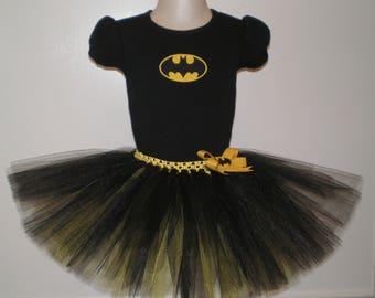 Bat Girl Outfit, Birthday Tutu Set, Bat Girl Halloween Costume, Bat Girl Tutu