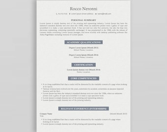 Modern Resume Template   Professional Resume Template   3 Page Resume Template   Creative Resume  CV Design   Resume Template Professional