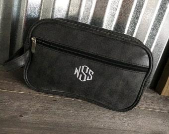 Toiletry Bag/Men's Toiletry/Shaving Bag with Three Initial Monogram/Groomsman gift