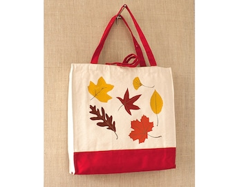 Heavy Duty Bag, Canvas Tote Bag,  Fall Colors, Tote Bag, Eco Friendly Bag, Shopping Bag, Reusable Bag, Book Bag, Canvas Bag