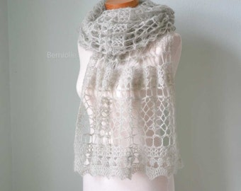 SAGE, Crochet shawl pattern pdf