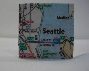 Magnets / Refrigerator Magnets  /  Seattle Map Magnet  /  Fridge Magnets  / Magnet for Home, School, or Office