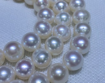9.5-10.5mm A Freshwater pearl strand,loose pearls with high luster,full strand for38cm,approximately 42pcs,Large hole potato pearls