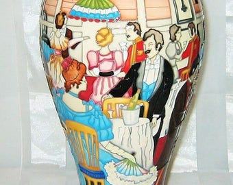 "MOORCROFT - High Society Vase 12.5"" Tall - 1st Quality"