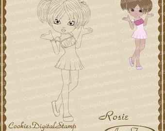 Rosie Digital Stamp